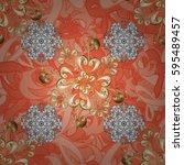 golden element on background.... | Shutterstock .eps vector #595489457