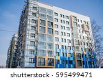 the construction of a... | Shutterstock . vector #595499471