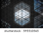 grid structures. reworked photo ... | Shutterstock . vector #595510565