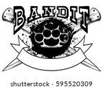 vector illustration brass... | Shutterstock .eps vector #595520309
