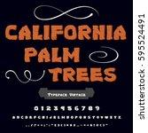 font handcrafted vector script...   Shutterstock .eps vector #595524491