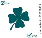 leaf clover sign icon. saint... | Shutterstock .eps vector #595530119