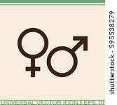 male and female sex symbol. | Shutterstock .eps vector #595538279