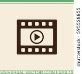 media player vector icon.