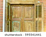 wood window | Shutterstock . vector #595541441