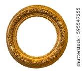 Antique Round Golden Frame...