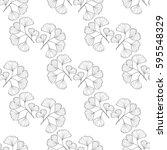 ginkgo biloba plant  leaf ... | Shutterstock .eps vector #595548329