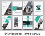 a4 brochure cover design.... | Shutterstock .eps vector #595548431