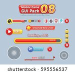 game user interface templates.... | Shutterstock .eps vector #595556537