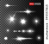stars and light flashes vector... | Shutterstock .eps vector #595557815