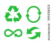 eco  organic  ecology  recycle... | Shutterstock .eps vector #595558325