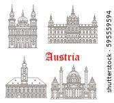 austrian historic architecture... | Shutterstock .eps vector #595559594