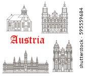 austria historic architecture... | Shutterstock .eps vector #595559684