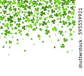 saint patrick's day border with ... | Shutterstock .eps vector #595559921