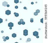 cyan random box wallpaper... | Shutterstock .eps vector #595564145