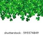saint patricks day background... | Shutterstock .eps vector #595574849