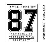 athletic sport new york... | Shutterstock .eps vector #595575215