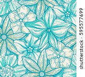 hand drawn pattern with... | Shutterstock .eps vector #595577699
