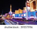 Stock photo las vegas mar paris las vegas hotel and casino sign in the shape of the montgolfier balloon 59557996