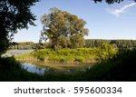 riverside forest at the danube... | Shutterstock . vector #595600334