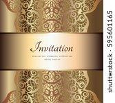 vintage gold background ... | Shutterstock .eps vector #595601165