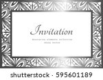 vintage rectangle frame with... | Shutterstock .eps vector #595601189