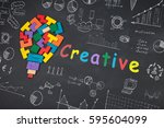 business creative idea concept  ... | Shutterstock . vector #595604099