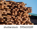 products of wood processing... | Shutterstock . vector #595610189