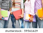 row of students lower part... | Shutterstock . vector #59561629