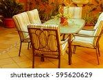 courtyard detail | Shutterstock . vector #595620629