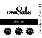 super sale banner template...   Shutterstock .eps vector #595634801