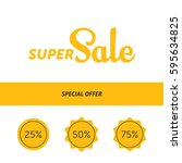 super sale banner template...   Shutterstock .eps vector #595634825