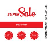 super sale banner template...   Shutterstock .eps vector #595634831