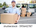 portrait of confidence express... | Shutterstock . vector #595642787