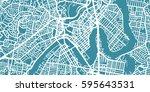detailed vector map of brisbane ... | Shutterstock .eps vector #595643531