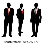 vector isolated silhouette of a ... | Shutterstock .eps vector #595647677