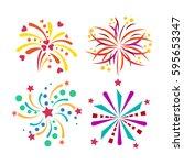 firework vector icon isolated... | Shutterstock .eps vector #595653347