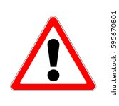 raster version. road sign... | Shutterstock . vector #595670801