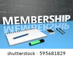 membership   text concept with... | Shutterstock . vector #595681829