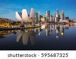 singapore cityscape. landscape...   Shutterstock . vector #595687325