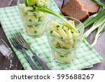 vegetarian salad with fresh...