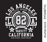 athletic sport california... | Shutterstock .eps vector #595688741