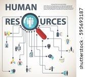 human resources | Shutterstock .eps vector #595693187