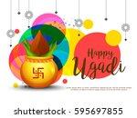 vector illustration of festival ...   Shutterstock .eps vector #595697855