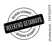 weekend getaways rubber stamp
