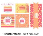 vector templates for cafe  ... | Shutterstock .eps vector #595708469
