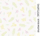 beautiful floral pattern.... | Shutterstock .eps vector #595716941