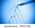 pen drawing profit line graph....   Shutterstock . vector #59571781