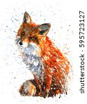 fox | Shutterstock . vector #595723127
