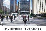 sao paulo  brazil   october 6 ... | Shutterstock . vector #595726451